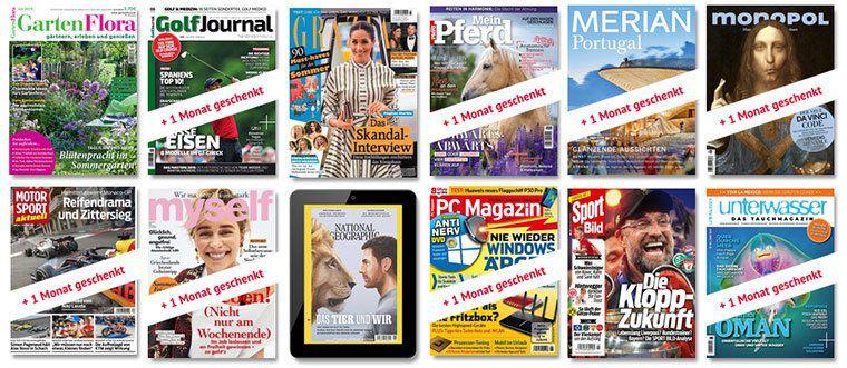 Knaller! 25 Zeitschriften im 3 Monats Abo komplett GRATIS ohne Versandkosten (keine Prämie etc.)