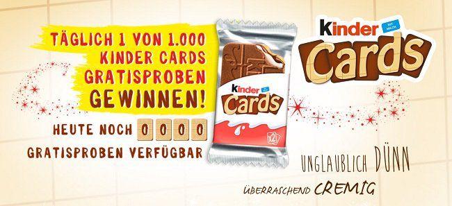 Gratis: Eine Kinder Cards Probe von Ferrero erhalten