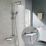 Homelody SO6102 Duschsystem mit Thermostat, Handbrause & Regendusche für 124,99€ (statt 215€)