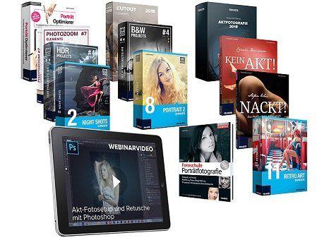 Pearl: FRANZIS Foto Paket zur Porträt  und Aktfotografie gratis (statt 480€?) + VSK 4,95€