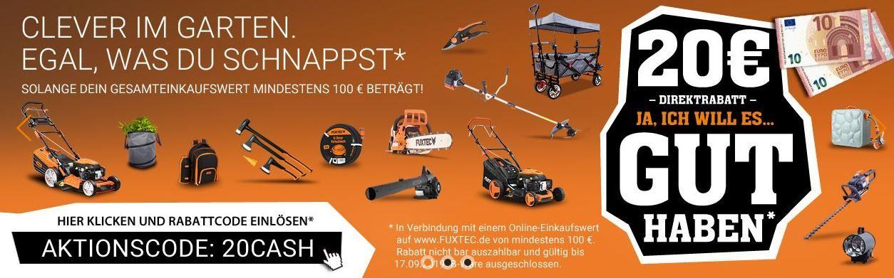 Fuxtec mit 20€ Rabatt auf (fast) Alles ab 100€   z.B. Bollerwagen FX CT350 für 99€ (statt 109€)