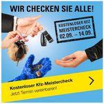 Gratis Meister Check für den PKW bei Vergölst bis 14. September 2019