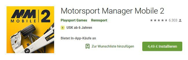 Android/iOS: Motorsport Manager Mobile 2 kostenlos (statt 4,49€)