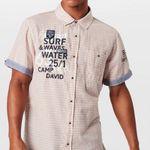 Camp David Kurzarm-Hemd in Neon-Orange für 29,67€ (vorher 70€)