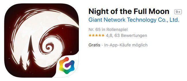 iOS/Android: Night of the Full Moon kostenlos (statt 50 Cent)
