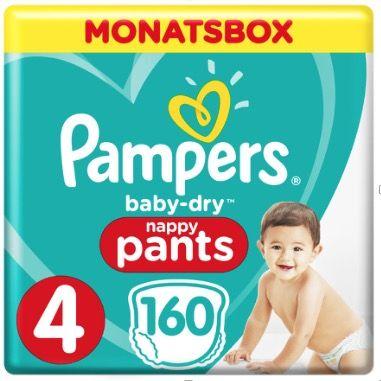 50% Rabatt auf Pampers Multipacks z.B. Pampers Baby Dry (160 Stück) für 22,99€ (vorher 46€)