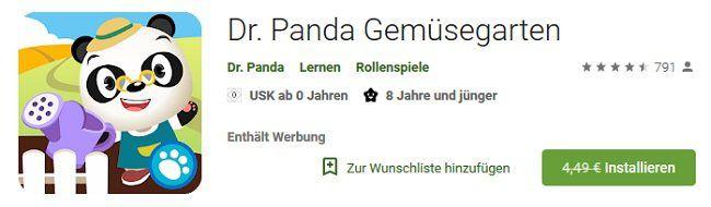 Android/iOS: Dr. Panda Gemüsegarten kostenlos (statt 4,49€)