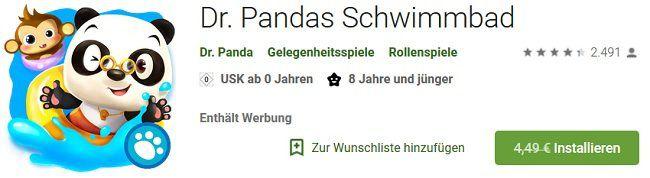 Android/iOS: Dr. Panda Schwimmbad kostenlos (statt 4,49€)