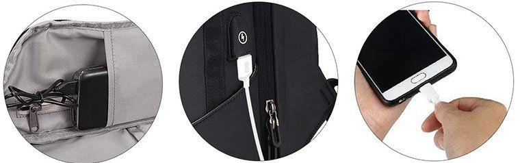 Wieder da! Fresion K0901   Laptoprucksack (26L) mit USB Anschluß für 23,99€ (statt 60€)