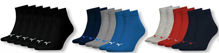 15 Paar Puma Unisex Sneaker  u. Sportsocken in vielen Farben für je 29,99€