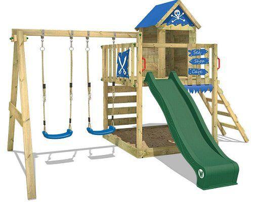 WICKEY Spielturm Kletterturm Smart Cave mit Doppelschaukel und Spielhaus für 479,95€ (statt 570€)