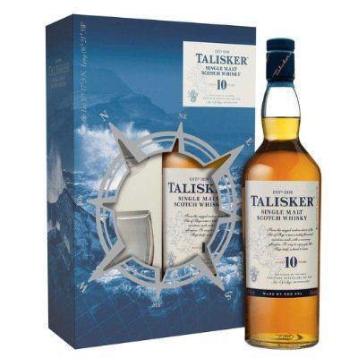 Abgelaufen! Talisker Single Malt Whisky 10 Jahre 0,7 Liter inkl. 2 Gläsern für 28,31€ (statt 38€)