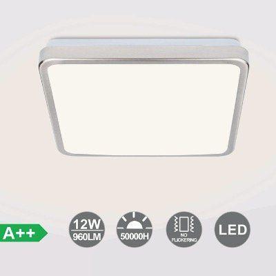 Abgelaufen! VINGO LED Deckenlampe mit 12W in Warmweiß IP44 wasserdicht für 6,99€ (statt 14€)   auf alle Modelle