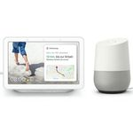 Google Assistant Bundle: Google Home + Google Nest Hub ab 104,95€ (statt 136€)
