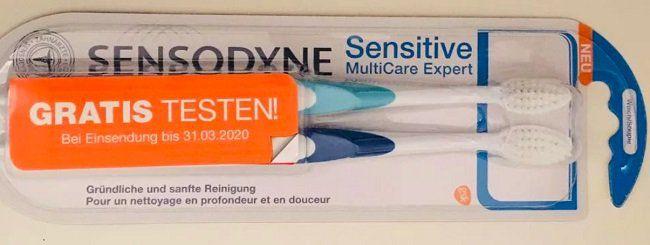 Kostenfrei: 2er Pack Sensodyne Zahnbürsten
