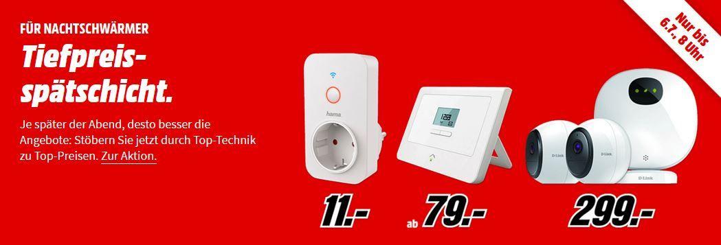 Media Markt Smart Home Tiefpreisspätschicht   z. B EQIVA 132231K0 Heizkörperthermostat für 7€ (statt 14€)