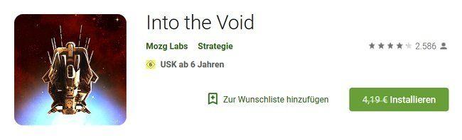 Android: Into the Void kostenlos (statt 4,19€)