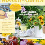 6 Ausgaben Wohnen & Garten für 24€ + 15€ Verrechnungsscheck