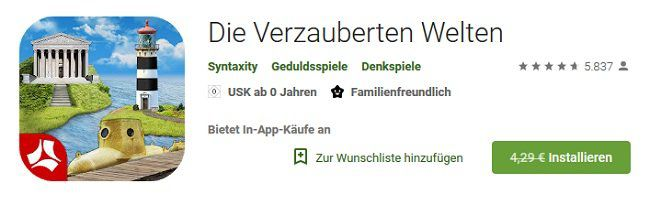 iOS/Android: Die Verzauberten Welten gratis (statt 4,29€)