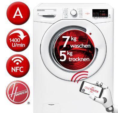 Hoover HLWG475D/5 84 Waschtrockner (7/5kg) für 314,91€ (statt 397€)