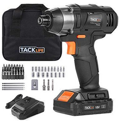 TACKLIFE PID02B   18V Akkuschlagschrauber mit Schnellspannfutter & Zubehör für 49,99€ (statt 80€)