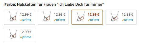 Kami Idea Damenkette Herz zu Herz mit Swarovski Steinen + Armband für 12,99€ (statt 50€)