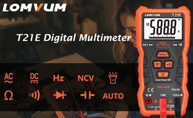 LOMVUM T21E   Digitalmultimeter für 12,34€ (statt 19€)