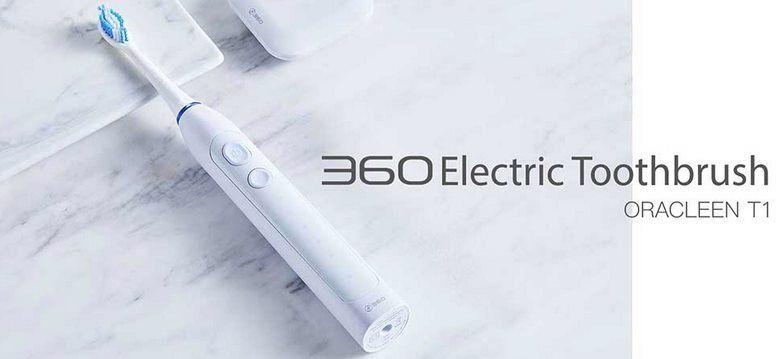 360 ORACLEEN T1   elektrische Schallzahnbürste mit 5 Modi für 27,27€ (statt 33€)