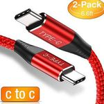 Doppelpack: USB-C auf USB-C 2m Kabel in Rot für 4,96€ – Prime