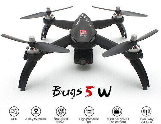 MJX Bugs 5W   Brushless GPS Drohne mit schwenkbarer 4k Cam für 131,99€   aus DE
