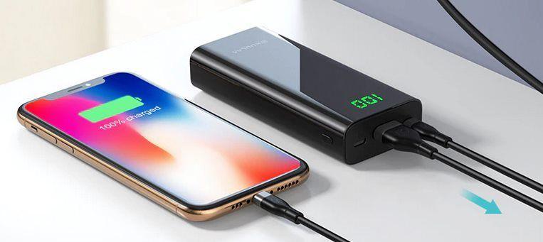KUULAA Micro USB & Type C Powerbank mit 10.000mAh für 9,13€