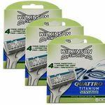 24 Stück: Wilkinson Sword Quattro Titanium Sensitive Rasierklingen für 24,99€ (statt 30€)