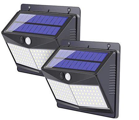 2er Pack: Solar Außenleuchte mit 108 LEDs & Bewegungsmelder für 14,79€ (statt 28€)