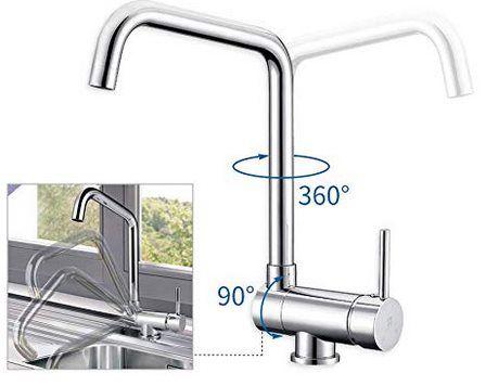 Homeloday JD42206101CH   360° drehbare Küchenamatur für 43,99€ (statt 90€)