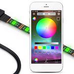 2m RGB LED Streifen mit Controller & App-Anbindung für 7,99€ – aus DE