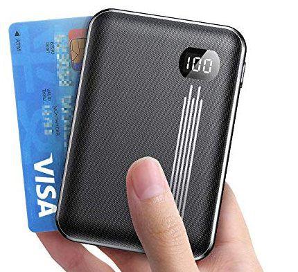 AINOPE Mini Powerbank (10.000mAh) mit LCD & Dual USB für 12,64€ (statt 23€)
