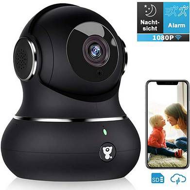 Littlelf 1080P WLAN Überwachungskamera mit Bewegungserkennung & Nachtsicht für 26,99€ (statt 47€)
