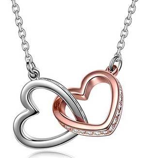 Kami Idea Damenkette Herz zu Herz mit Swarovski Steinen für 9,99€ (statt 25€)