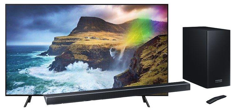 Samsung GQ65Q70R   65 Zoll QLED Fernseher + Sammsung HW Q70R Soundbar für 1.599€ (statt 2.125€)