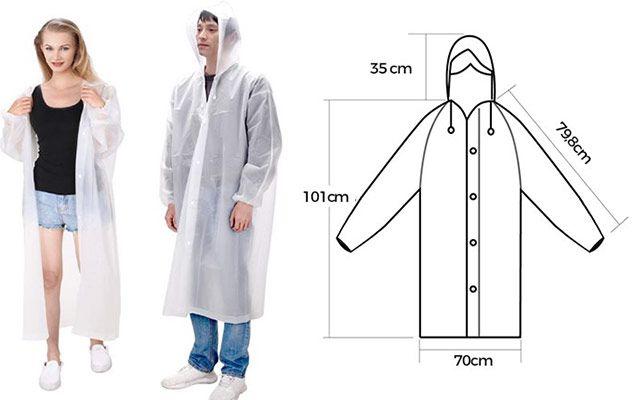 2er Pack: Regenponcho mit Kapuze für 3,99€ – Prime