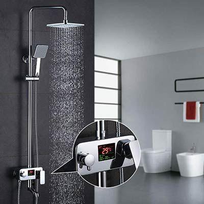 Homelody MJDRS01   3 Wege Duschsystem inkl Amatur mit LCD Anzeige für 107,99€ (statt 180€)