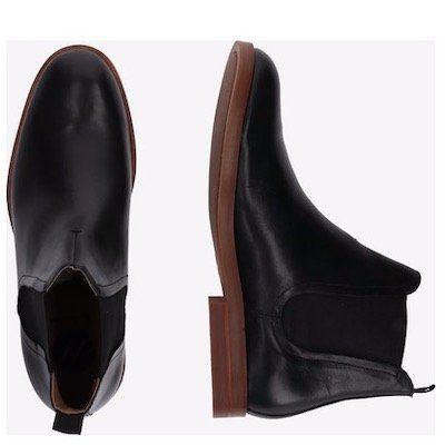 Hudson London Leder Stiefel Adlington in Schwarz für 38,17€ (statt 75€)   in Braun 29,67€