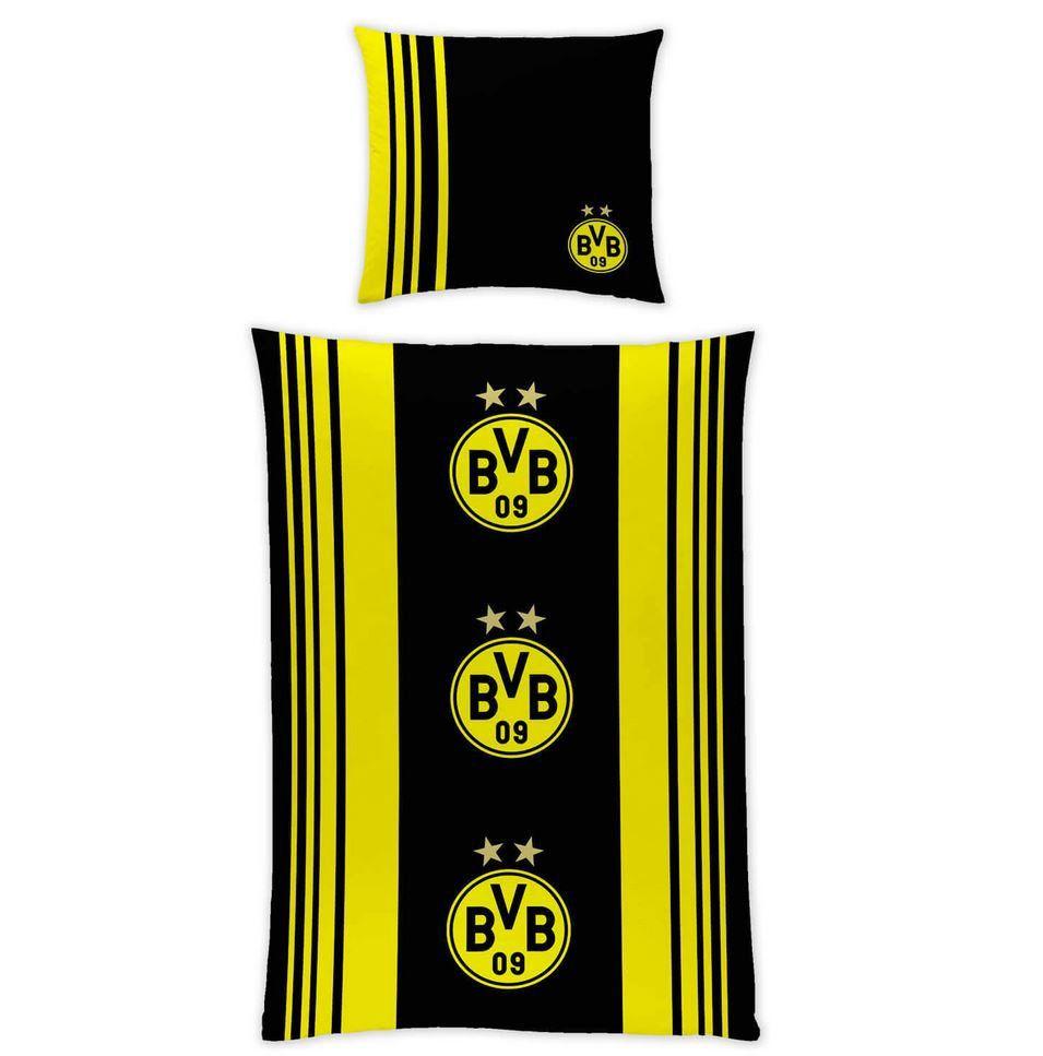 Borussia Dortmund Bettwäsche (135 x 200 cm) mit Kissen und Deckenbezug zum Preis von 19,95€ (statt 25€)