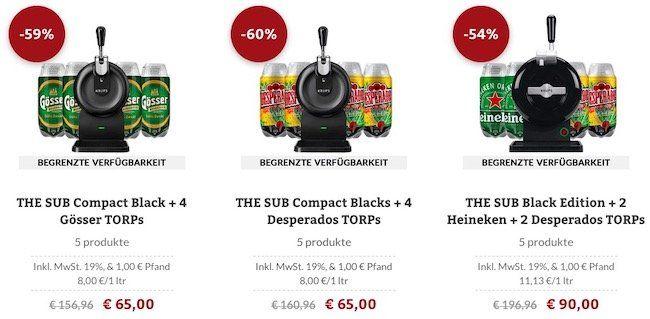 THE SUB Sale mit Hardware und Bier   z.B. THE SUB Compact für 39€ (statt 44€)