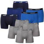 9er Pack Boxershorts (4x Levis, 3x Puma, 2x Head) für 44,95€ (statt 65€)