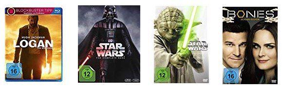 Amazon: ausgewählte DVDs/Blu rays für 50€ kaufen + 50€ Prime Video Guthaben erhalten