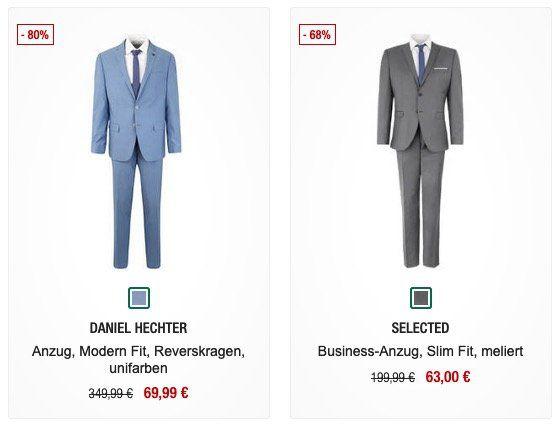 🔥 Anzug Sale bei Galeria Kaufhof   z.B. Selected Business Anzug für 48,99€ (vorher 200€)