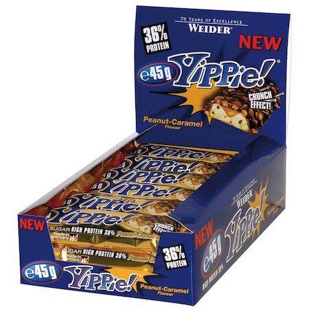 12er Pack Yippie! Bar Erdnuss Karamell Riegel für 14,99€ (statt 25€)   MHD 30.09.2019