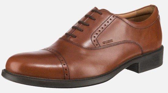 Geox Business Leder Schnürschuh in Braun für 43,34€ (statt 62€)
