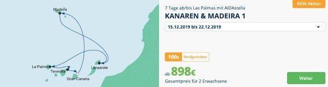 🚢 AIDA Traumreise Spezial z.B. 7 Tage Perlen am Mittelmeer ab 798€ für 2 Personen